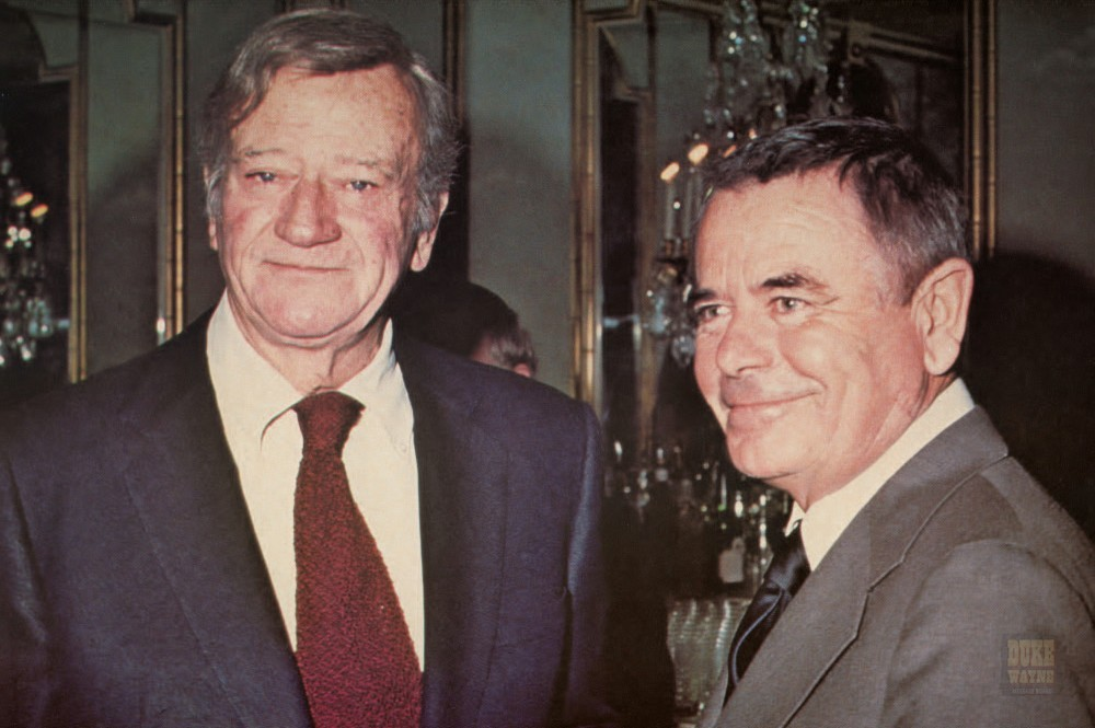 John Wayne and Glenn Ford
