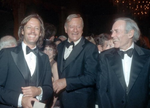 Peter Fonda, John Wayne and Henry Fonda