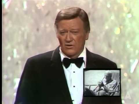 John Wayne and Howard Hawks: 1975 Oscars