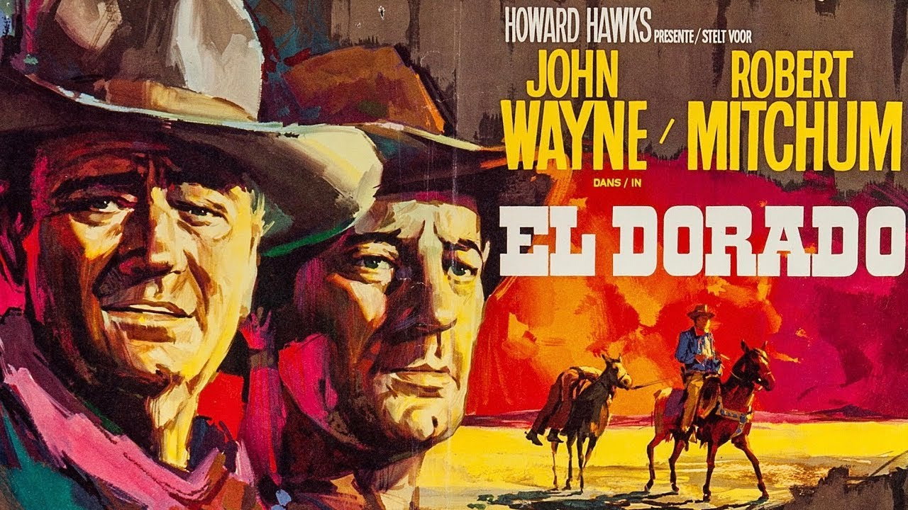 "EL DORADO John Wayne & Howard Hawks! Funnier than ""Rio Bravo"" with Ed Asner"