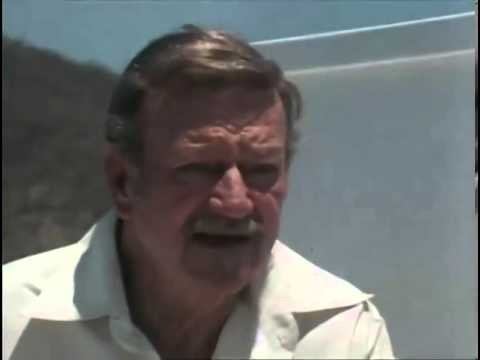 John Wayne 1976 Interview on board the Wild Goose