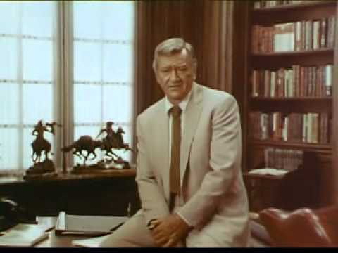 1970's commercials PSA John Wayne for the American Cancer Society,