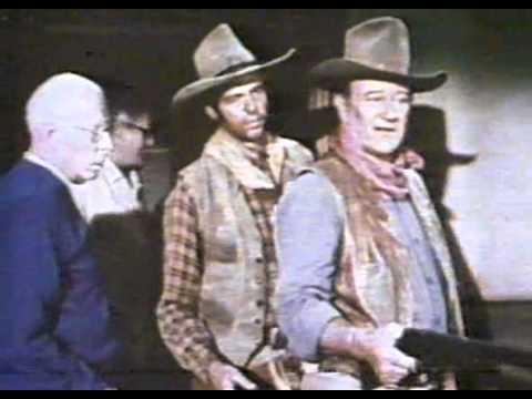 "JOHN WAYNE & HOWARD HAWKS ON SET OF - ""RIO LOBO"""